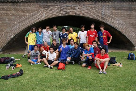 サッカー集合写真